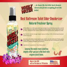 Amazoncom Wholy Water Best Bathroom Clean Toilet Spray Cleaner - Best bathroom odor eliminator