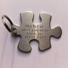 Jigsaw Quotes Enchanting Jigsaw Key Ring Quote Key Ring Large Hand Stamped Personalised