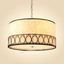 drum lighting lowes. drum pendant chandelier rustic lighting 3 light fabric shade lowes