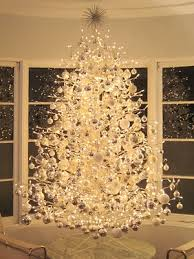 ... white christmas tree with lights ...