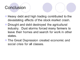 the great depression review of causes of the great depression  9 conclusion