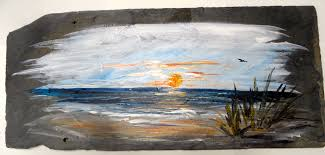 paint a step by step painting on slate while drinking your byob wine beer or our complimentary cold beverages in our lebanon pa studio