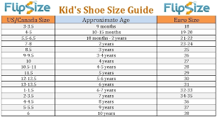 Kids Shoe Size Chart Printable Infant Shoe Chart Kids Size By Age World Of Printable And