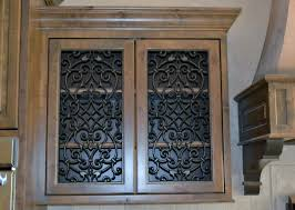 Kitchen Cabinet Insert Kitchen Cabinet Doors With Faux Iron Inserts From Faux Iron