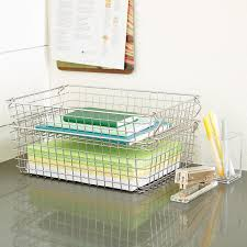 Stackable Wire Storage Baskets with Handles ...