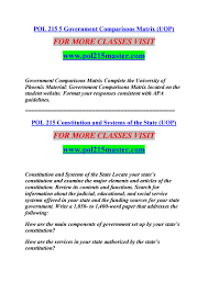 Pol 215 5 Government Comparisons Matrix Uop By Cool9 Issuu