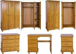 Hampshire Solid Antique Pine Bedroom Furniture Wardrobe Drawers Bedside  Desk Set