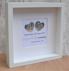 10th wedding anniversary gift tin large contemporary frame personalised