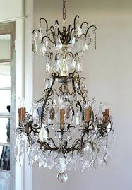 chandelier wall sconce candle holder early french antique bronze crystal electric