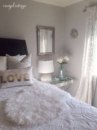 curtains lightweight white curtains with a delicate silver pattern add to the soft feel in this bedroom all available at homegoods