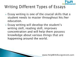 forms of essays different forms of essays