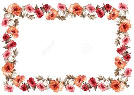 frame. Flowers Frame In White Background Isolated Stock Photo - 12850047