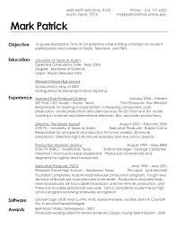 Effective Resume Sample For Film Industry Like Film Production