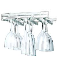 wine glass rack hanging stemware a wall mount and