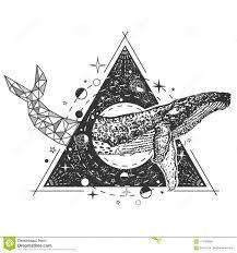 дизайн стиля искусства татуировки кита вектора творческий