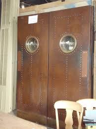 Restaurant Kitchen Door Design Salvaged Courtroom Doors As Swinging Kitchen Doors Cafe