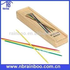 Game With Wooden Sticks Hot Selling Top Quality 100pcs Sticks Wooden Mikado Game Set With 77