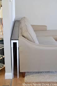 diy thin sofa table diy sofa table
