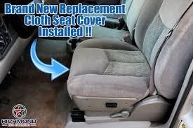 2003 2007 chevy silverado ls lt z71 cloth seat cover driver bottom dark gray
