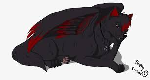 red and black wolf with wings. Fine Red Black Winged Wolf By Stephy09png To Red And With Wings C
