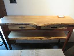 hall tables with drawers. Sofa/Hall Table Made From Live Edge Spalted Maple With One Shelf And Cherry Base. Two Drawers Ebony Pulls. By Moran Woodworks. Hall Tables S