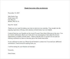 Thank You Letter After Interview Email Free Template For Business