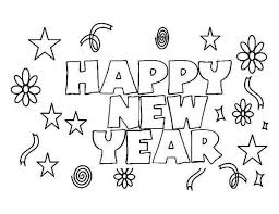 Small Picture Happy New Year to Everyone Coloring Page Download Print Online