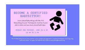 Free Babysitting Class Mashpee Public Library
