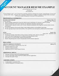 Account Manager Resume Sample Resume Samples Across All Industries