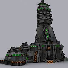 sci fi buildings collection