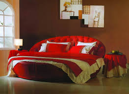 ... Charming Modern Bedroom Decoration Using Various Ikea Circle Bed Frames  : Breathtaking Furniture For Modern Red ...