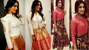 Choli Blouse Design Latest Beautiful Lehenga Designs And Blouse Designs Latest Designer Lehengas