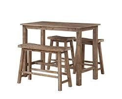 boraam 75027 4 piece sonoma pub table set 36 x 47 25 x 23 75 neutral