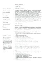 Cv Pattern Curriculum Vitae Of Teacher Examples Cv Pattern For Teaching