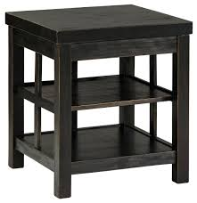 distressed black end table signature design by rustic distressed black square end table with 2 shelves distressed black end table