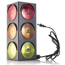 Stop Light Lamp Kicko Traffic Light Lamp Plug In Blinking Triple Sided 12 25 Inch For Kids Bedrooms Decorations Parties Celebrations Props Gifts