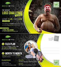 postcard design by theziners for eco gym design 5526986