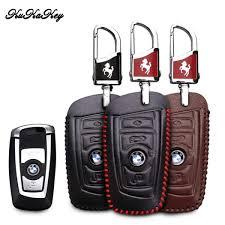 genuine leather key cover for bmw f30 f20 x1 x3 x5 e30 e34 e90 e60 e36 e39 e46 smart sensors key case car key bag wallet holder malaysia
