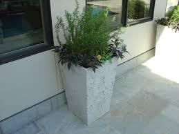 concrete garden planters concrete planters houston residence concrete planters
