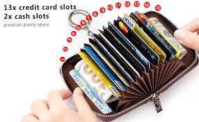 You can use them to pay for purchases online and in stores that accept them without having. Amazon Com Furart Credit Card Wallet Zipper Card Cases Holder For Men Women Rfid Blocking Key Chain Compact Size Clothing Shoes Jewelry