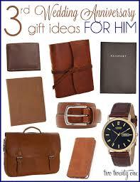 third wedding anniversary gift ideas for him