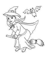 Small Picture Free printable witch coloring page Crafts and Worksheets for