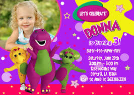barney party invitation template barney birthday invitations ideas bagvania free printable