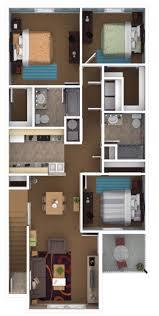 3 bedroom 2 bath 1194 sq ft Canterbury Apartments Newburgh