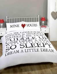 mine and yours duvet cover set white double