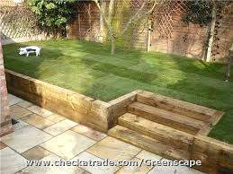 retaining wall ideas with steps retaining sleeper before and after pix of creative outdoor living ideas