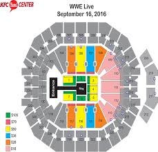 Yum Center Detailed Seating Chart Acc Seating Chart Wwe Www Bedowntowndaytona Com