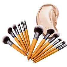 beonjfx wood handle soft hair eyeshadow brushes cosmetics eyes makeup tool 8pcs set amazon co uk beauty
