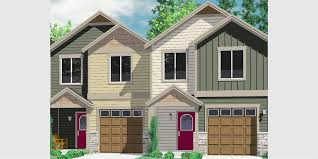 Narrow Lot duplex house plans Narrow and Zero Lot LineD  Duplex house plans  narrow duplex house plans  story duplex floor