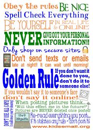 Printable Kids Net Etiquette Subway Art Free Printable Kids Email Blog